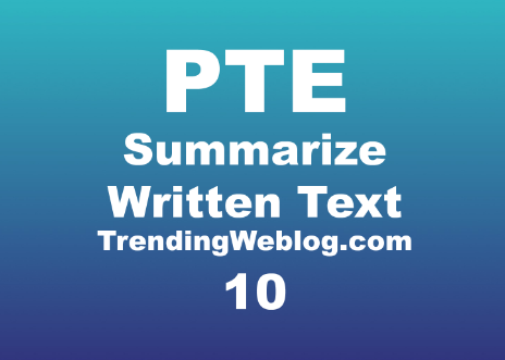 PTE Summarize Written Text