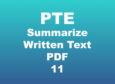 PTE Summarize Written Text with Answers pdf