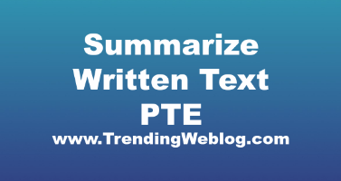 Summarize Written Text PTE Practice Sample 6