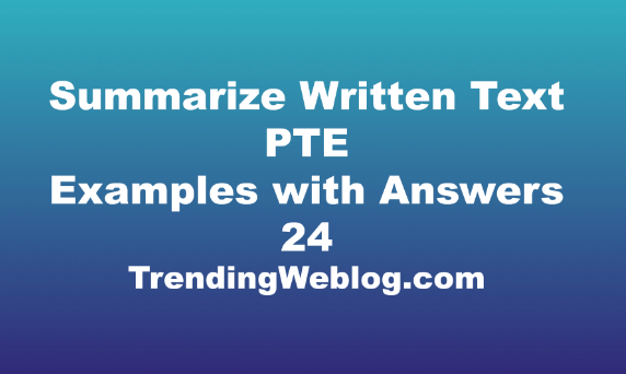 summarize written text pte examples with answers