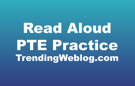 Read Aloud PTE Practice