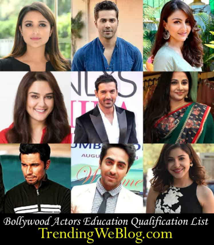 Bollywood Actors Education Qualification List
