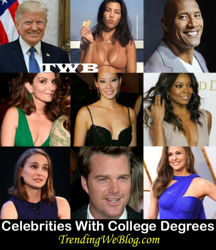 celebrities with college degrees