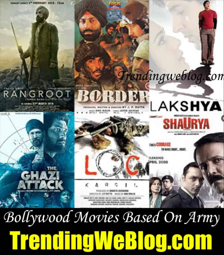 Bollywood Movies Based on Army