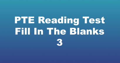 PTE Reading Test