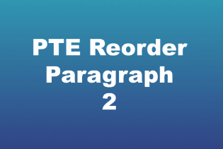pte reorder paragraph sample