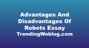 Advantages And Disadvantages Of Robots Essay