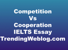 Competition Vs Cooperation IELTS Essay
