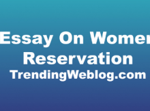 Essay On Women Reservation