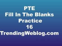 PTE Reading Fill In The Blanks Practice