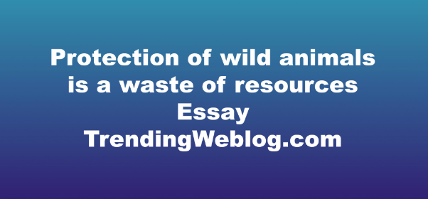 Protection of wild animals is a waste of resources