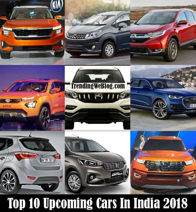 Upcoming Cars In India 2018