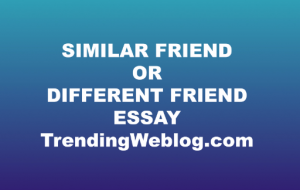 What kind of friend is better similar or different