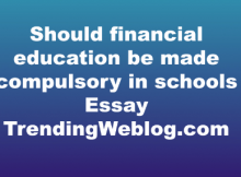 Should financial education be made compulsory in schools