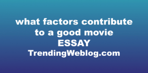 what factors contribute to a good movie
