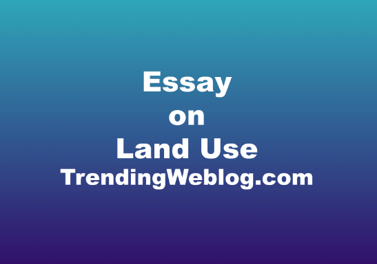 Essay on Land Use