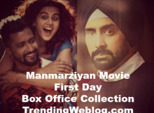 Manmarziyan Movie First Day Friday Box Office Collection