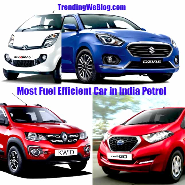 Most Fuel Efficient Car in India