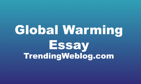 Population and global warming essay