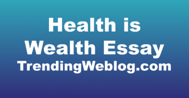 Health is Wealth Essay