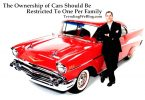 The ownership of cars should be restricted to one per family