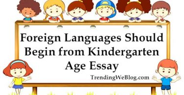 Foreign languages should begin from kindergarten age essay