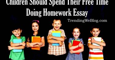 children should spend their free time doing homework